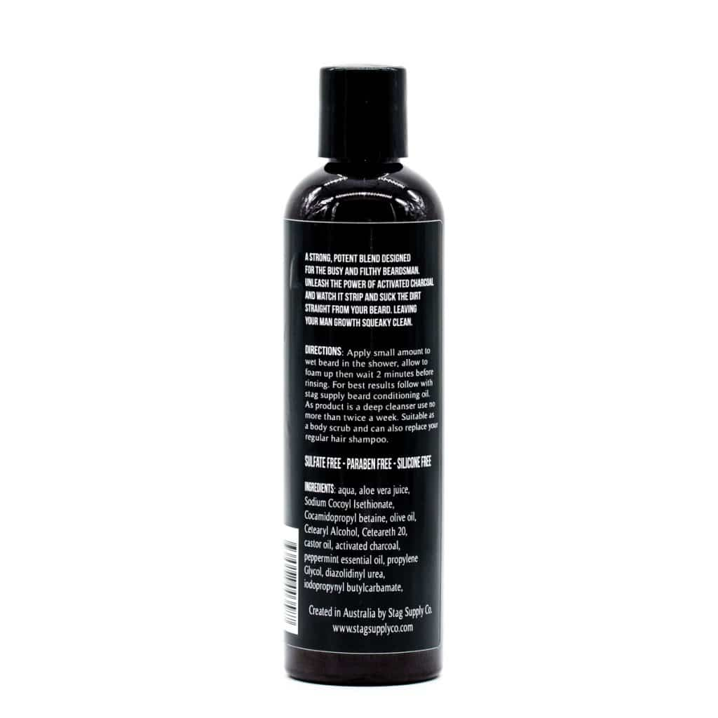 Stag Supply Beard Shampoo 250ml BLACK Activated Charcoal